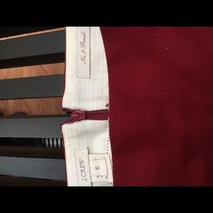 JCrew Maroon pencil skirt